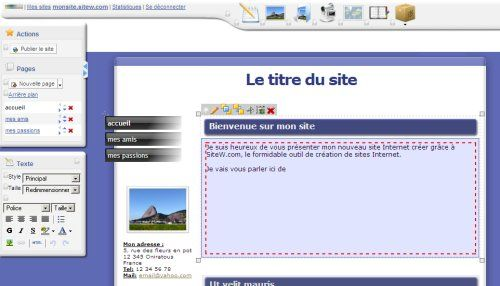 Editeur de sites Web