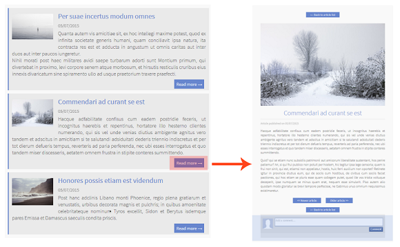Create a blog to publish your articles in detail