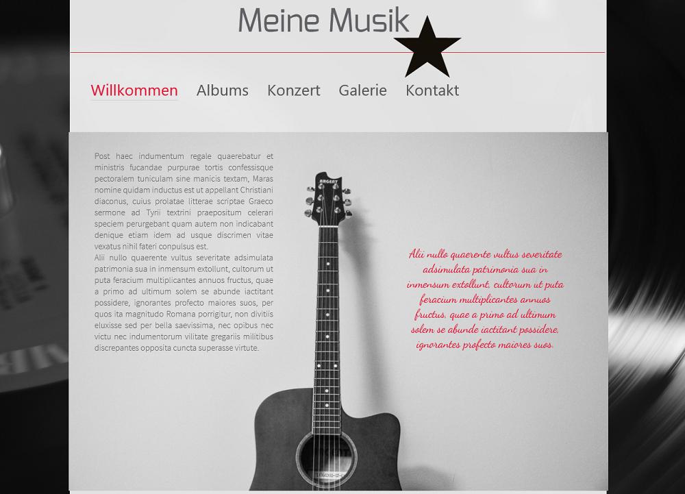 Erstellen Sie eine Musik-Homepage