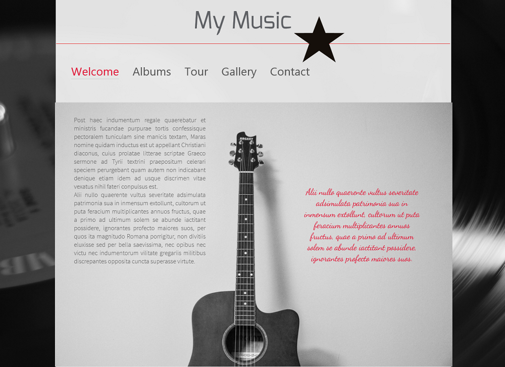 create a music website