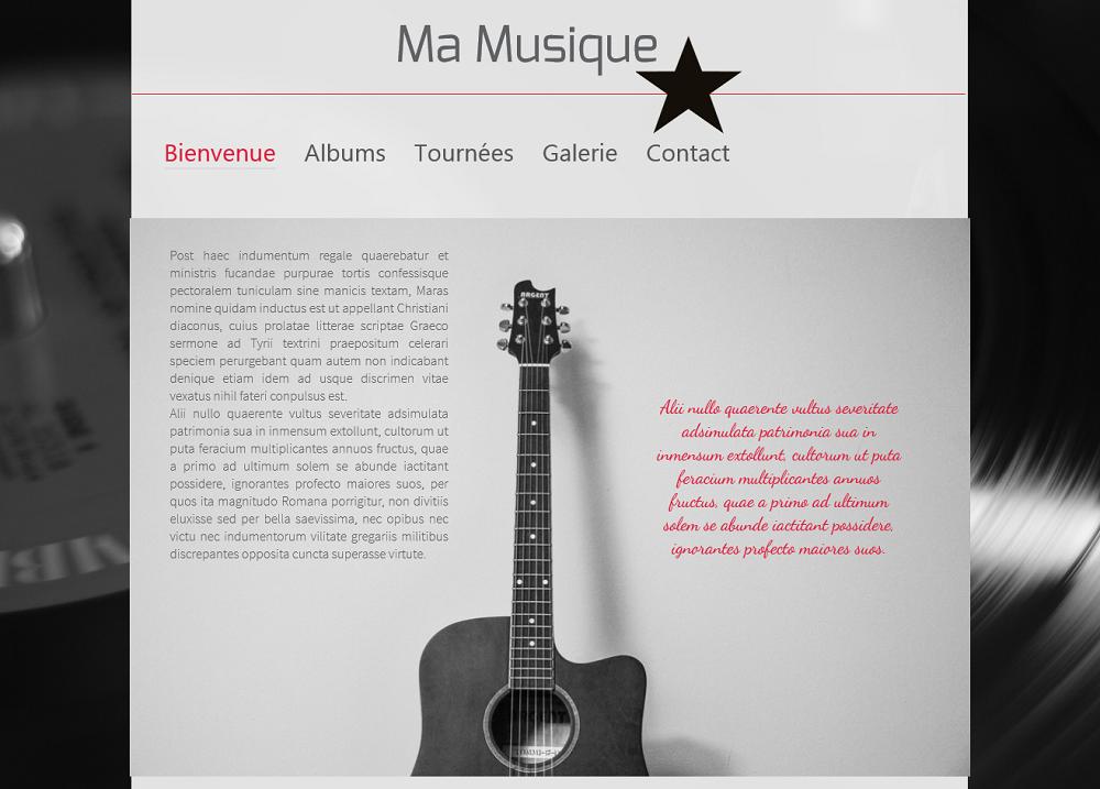 Créer un site de Musique