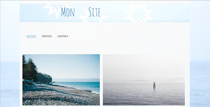 Créer un site avec une bannière personnalisée