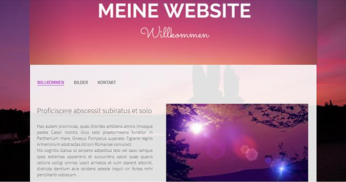 Ein Banner auf meiner Website erstellen