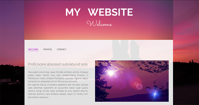 create a banner for my website