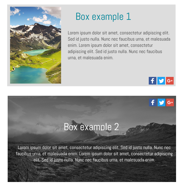 add box to website