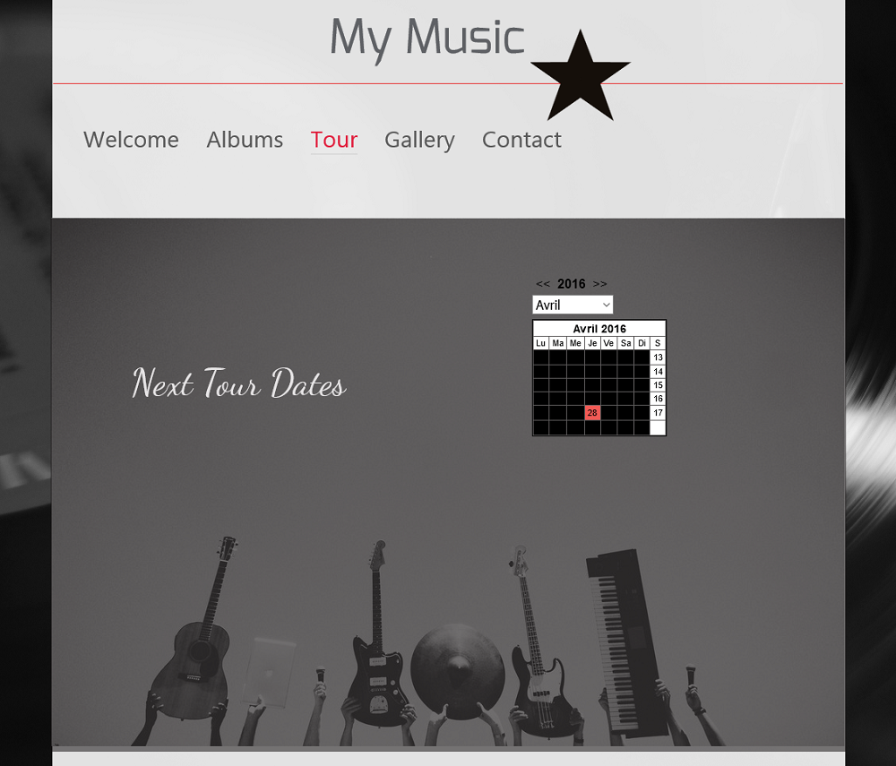 make your music known on your website