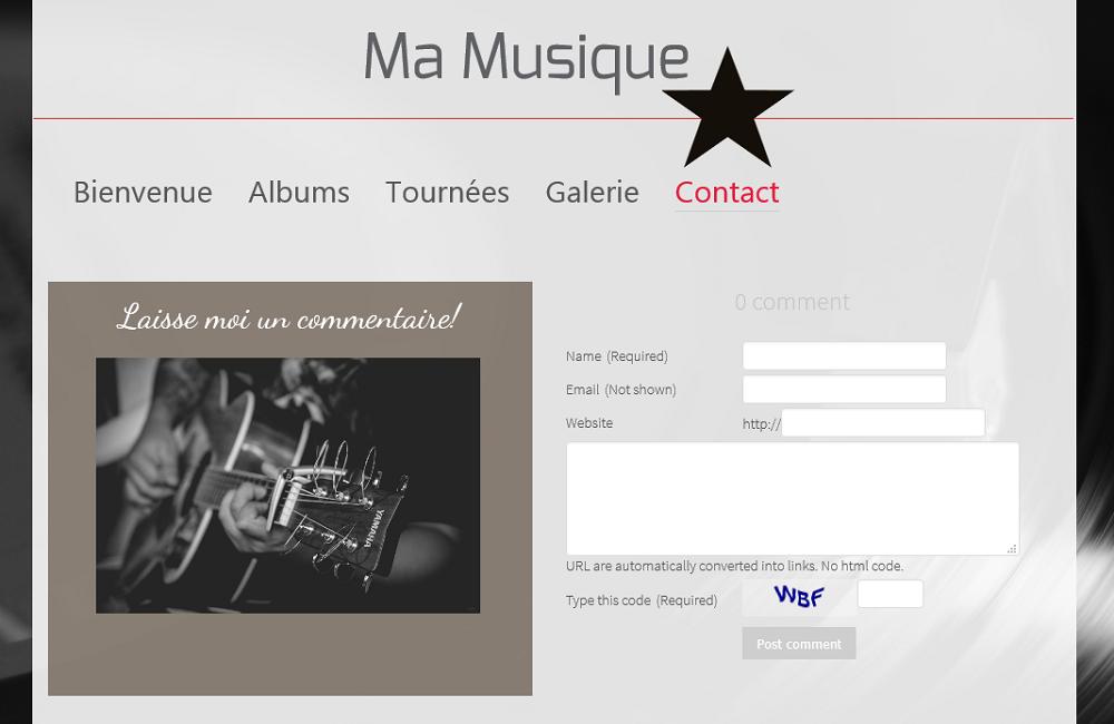 Commentaires pour votre site de musique