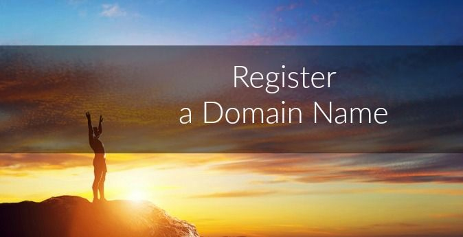 Register a domain name for your website