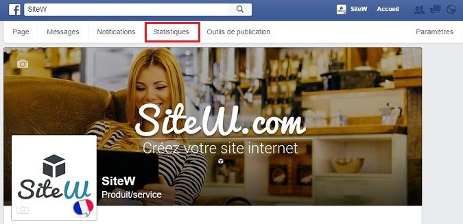 créer un site Internet, outils statistiques de Facebook
