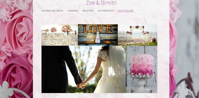 create an online photo gallery for your wedding