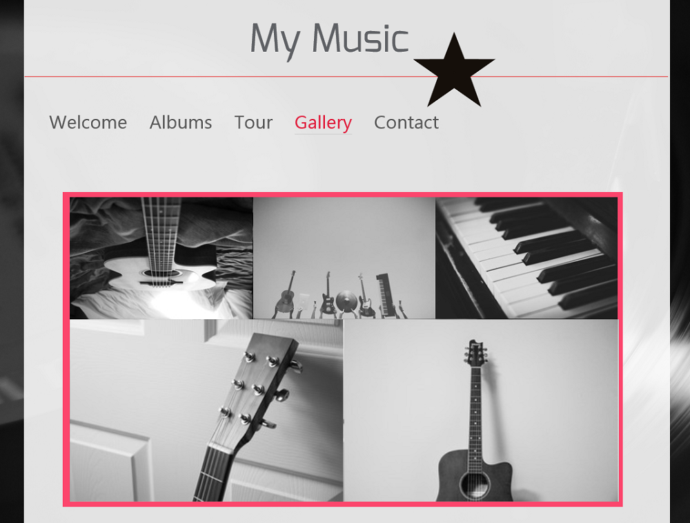 Add photos of your band, your tour