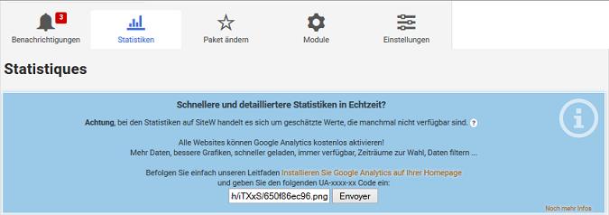 Erstellen Sie eine Homepage mit Statistiken