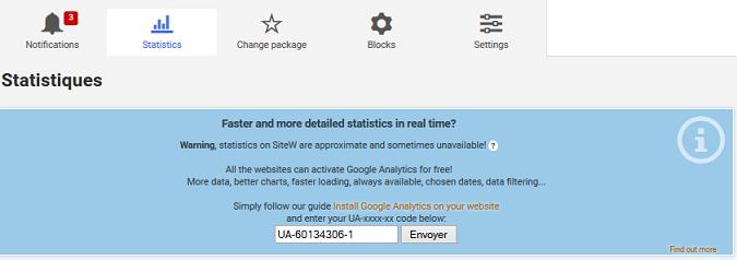 crear una página web con estadísticas