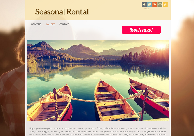 Create an effective homepage for your accomodation website
