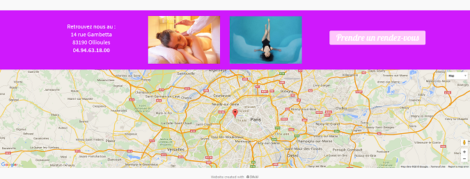 ajouter une carte largeur d'écran sur mon site internet