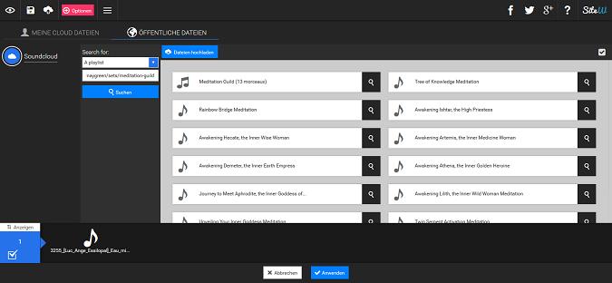 Ein SoundCloud-Playlist auf Ihre Website einfügen