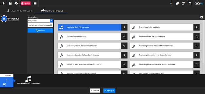 ajouter une playlist SoundCloud à votre site