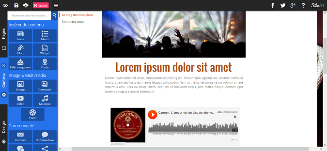 créer une playlist sur son site