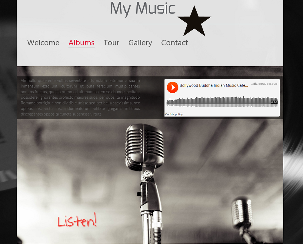 Add your own music to your website