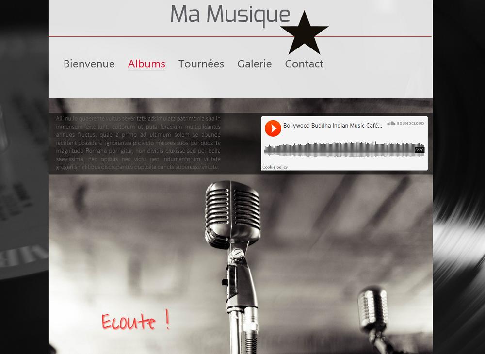 Ajoutez votre propre musique à votre site