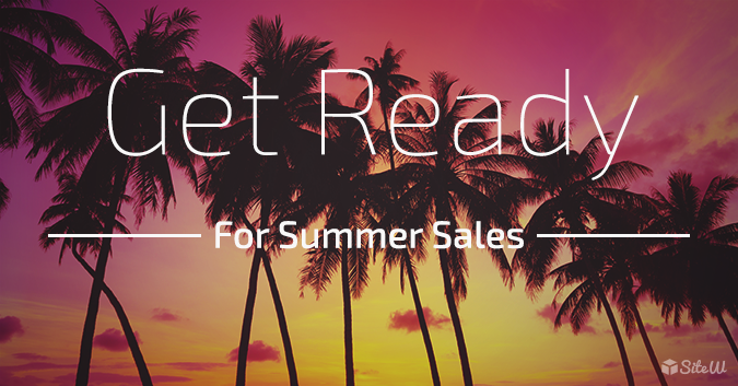 create an online store - prepare summer sales