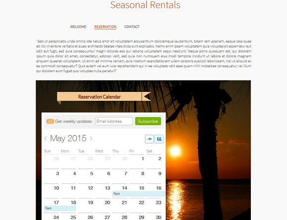 Create a calendar website