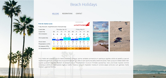 create a weather widget website