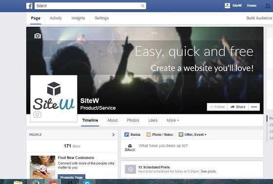 SiteW Facebook Fan page