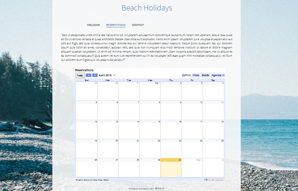 create a google calendar on my website