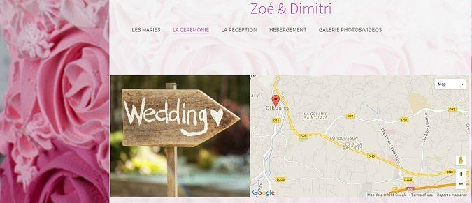 créer un site de mariage peut faciliter l'organisation de votre mariage en quelques clics