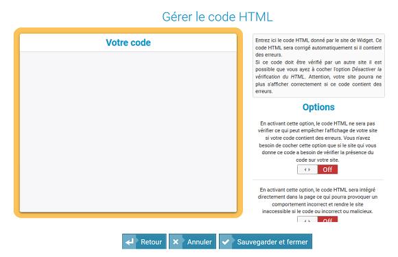 Créer un module Widget HTML