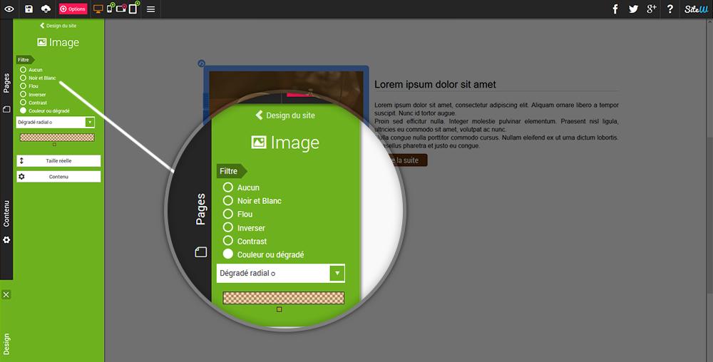 Ajouter des filtres aux images