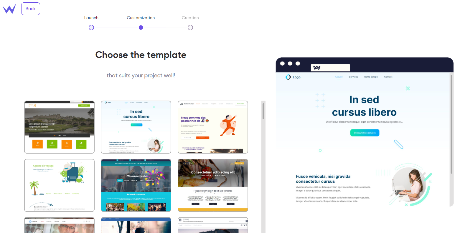 SiteW business template