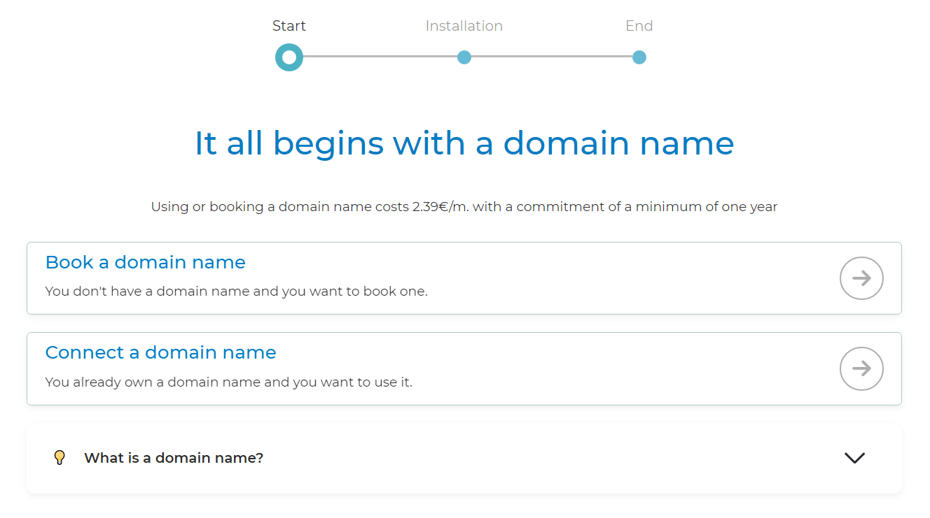 booking a domain name
