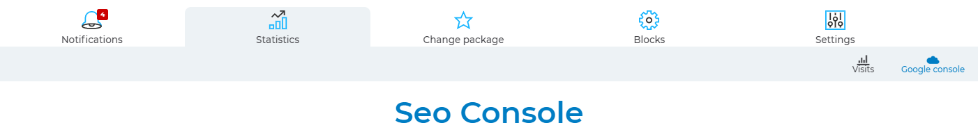 sitew seo console