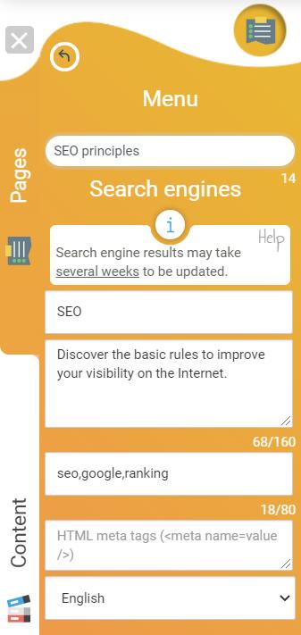 description for search engines