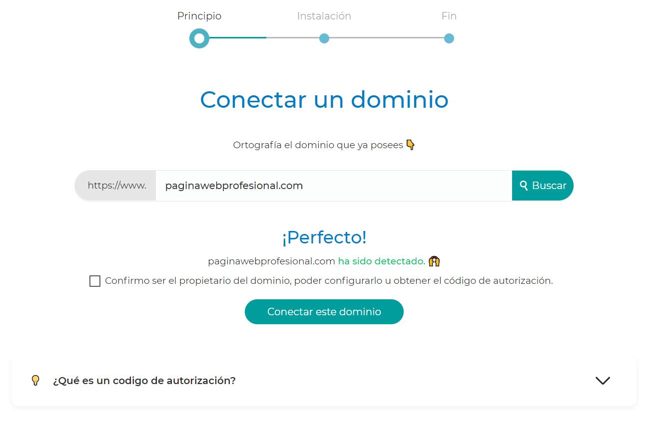 conectar un dominio
