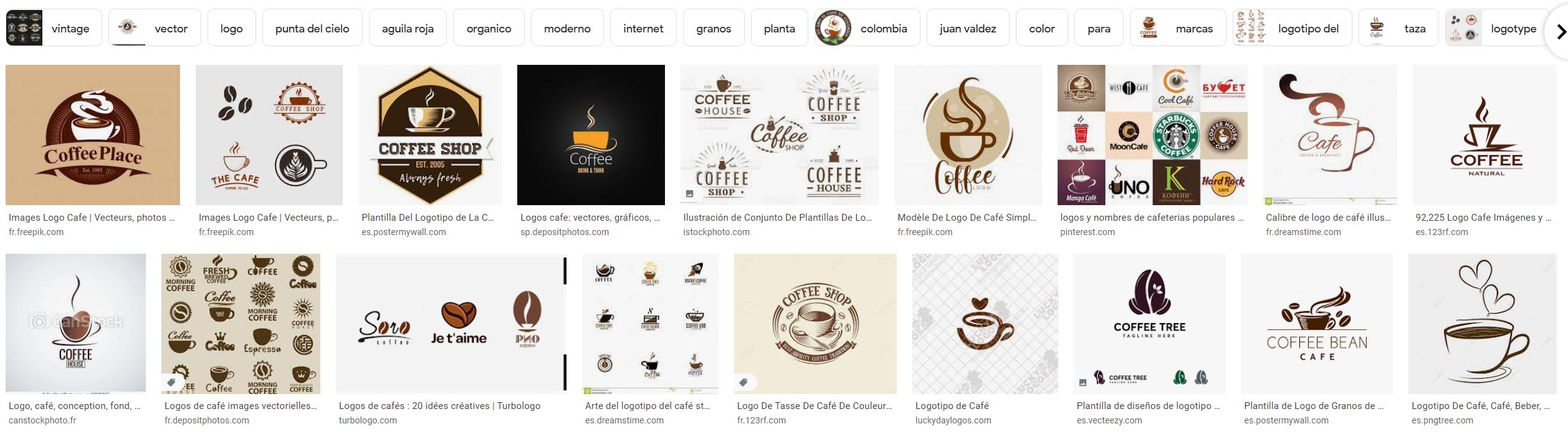 Ejemplos logotipos café