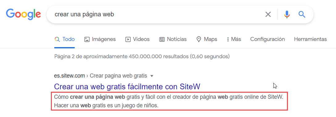 primera posición de Google