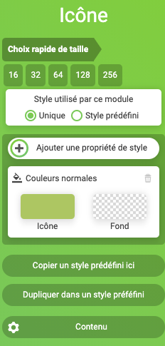 icone configuration