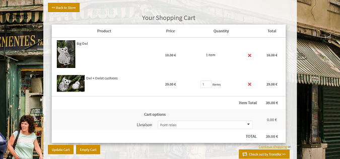 new design for your onlineshop cart