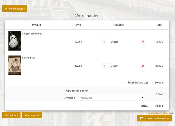 nouveau design boutique en ligne