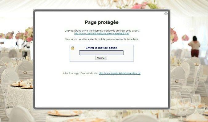 Proteger les pages de mon site de mariage avec un mot de passe