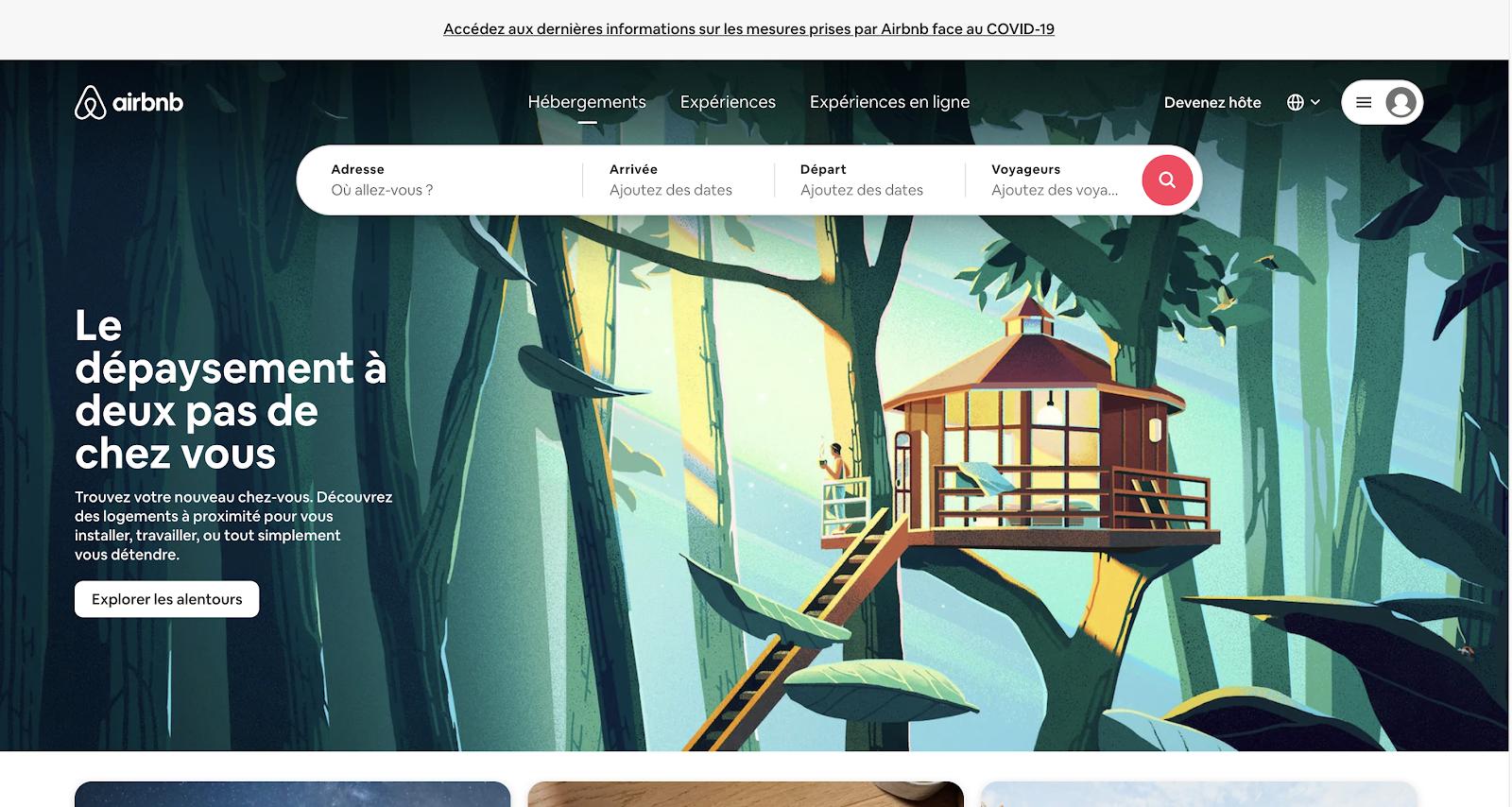 Airbnb rebond