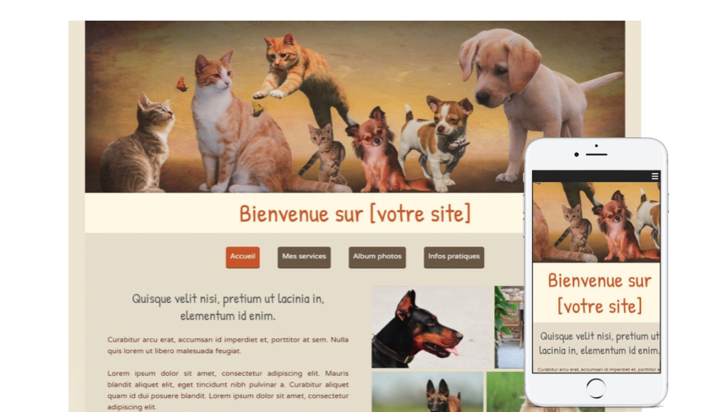 Template site animaux