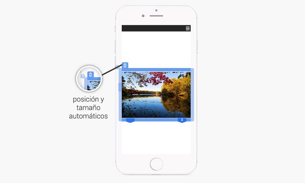 redimensionamiento automático para la versión móvil