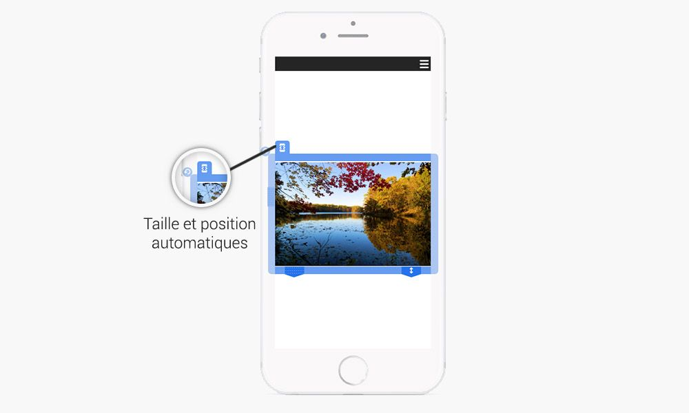 redimensionnement automatique pour optimisation mobile