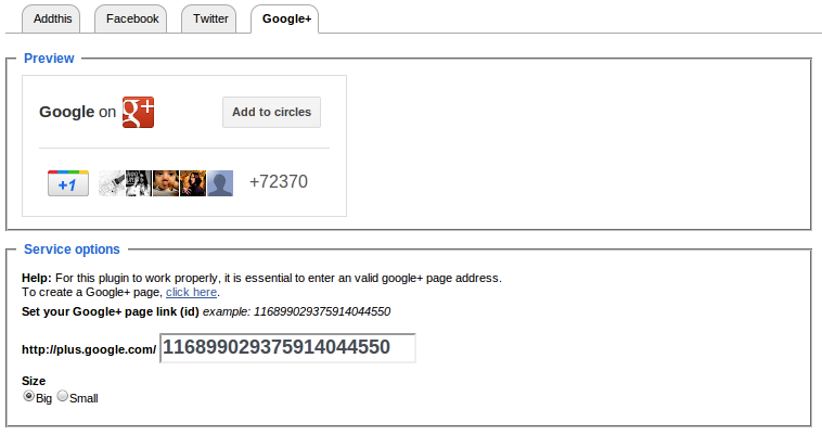 Create a website and share it on Google+