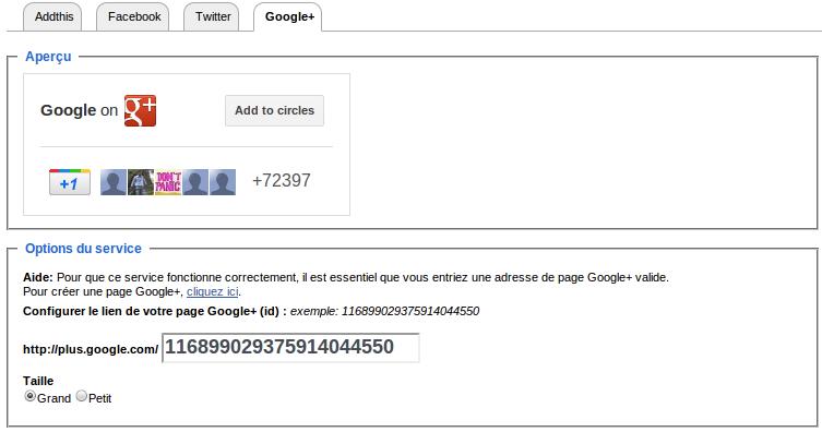 Vous pourrez ainsi créer un site qui publie votre page Google+