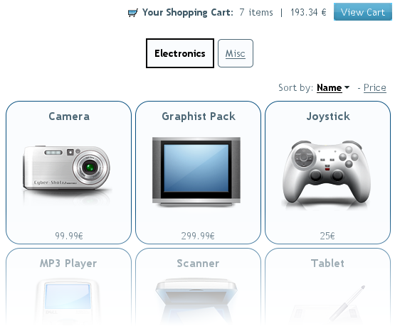 Create an e-commerce website